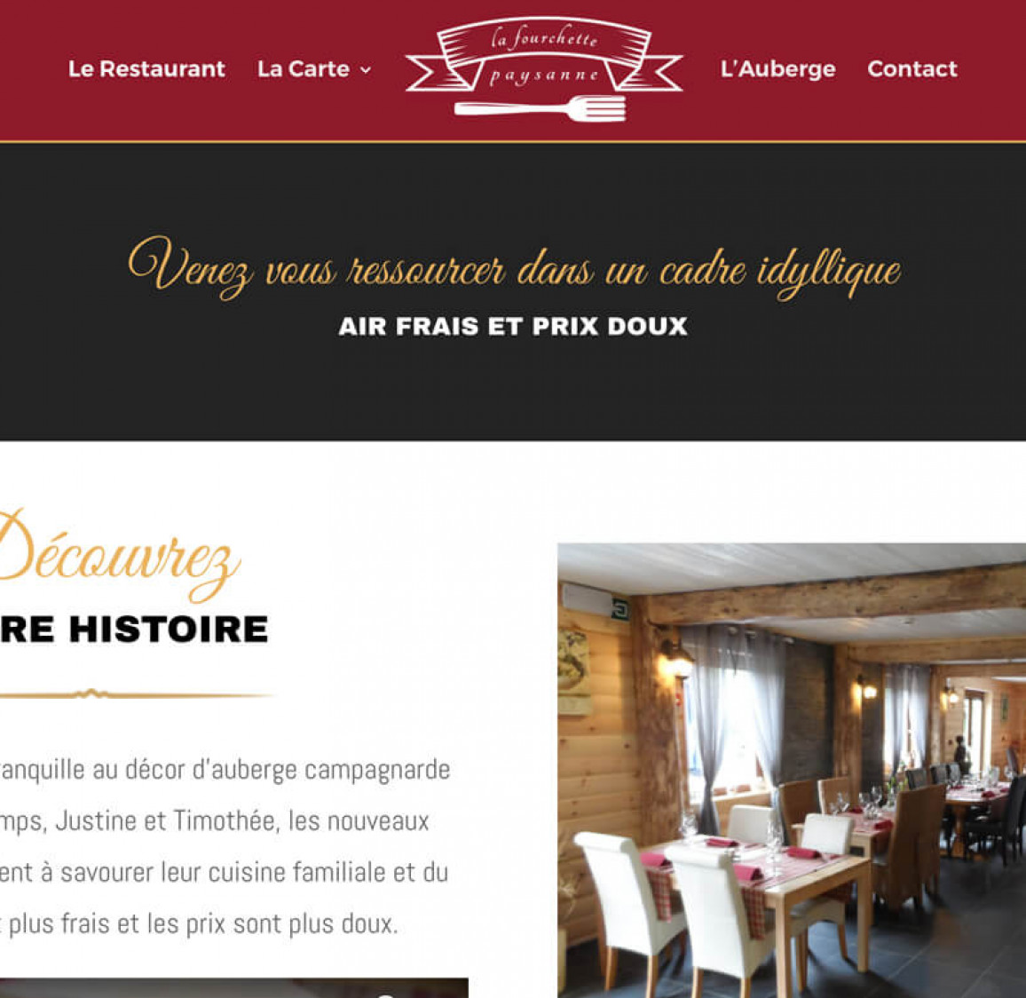 Création de site WordPress pour restaurant en Belgique