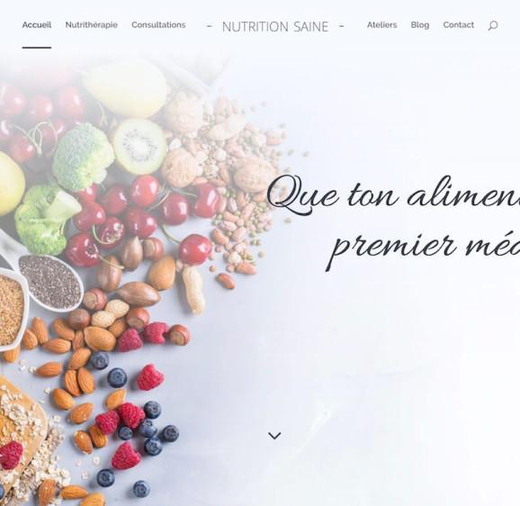 Création d'un site vitrine avec webdesign élégant Divi