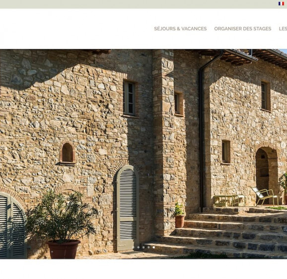 Intégration de webdesign d'un site pour maison d'hôte
