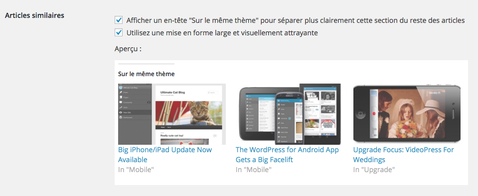 Articles similaires JetPack