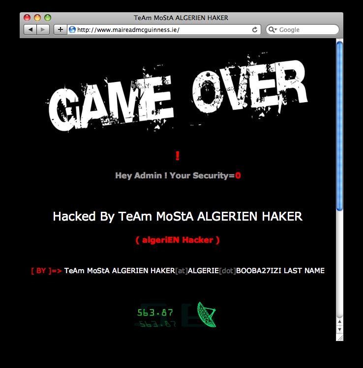 Vous vous êtes fait hacker.