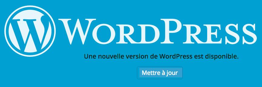 Une nouvelle version de WordPress est disponible.