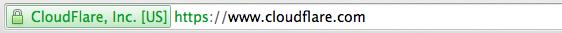 HTTPS affiché dans la barre d'adresse