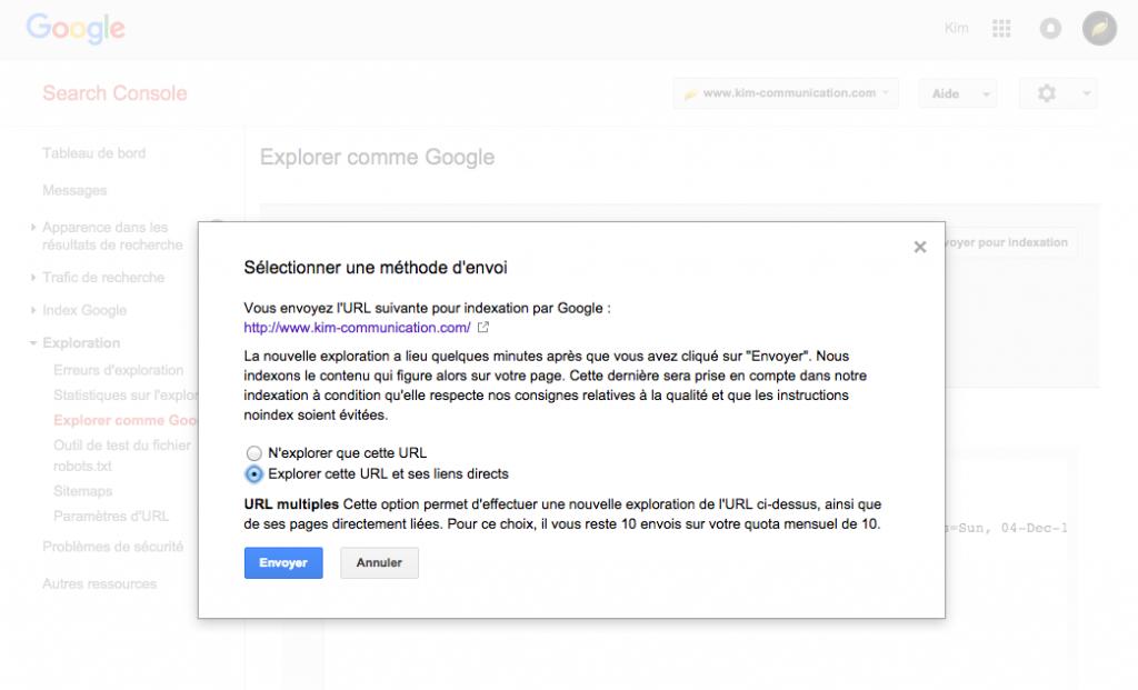 Faire explorer votre par Google pour une prise en compte rapide de la redirection.