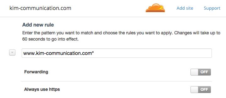 Utiliser https Page Rules Cloudflare pour la redirection HTTPS