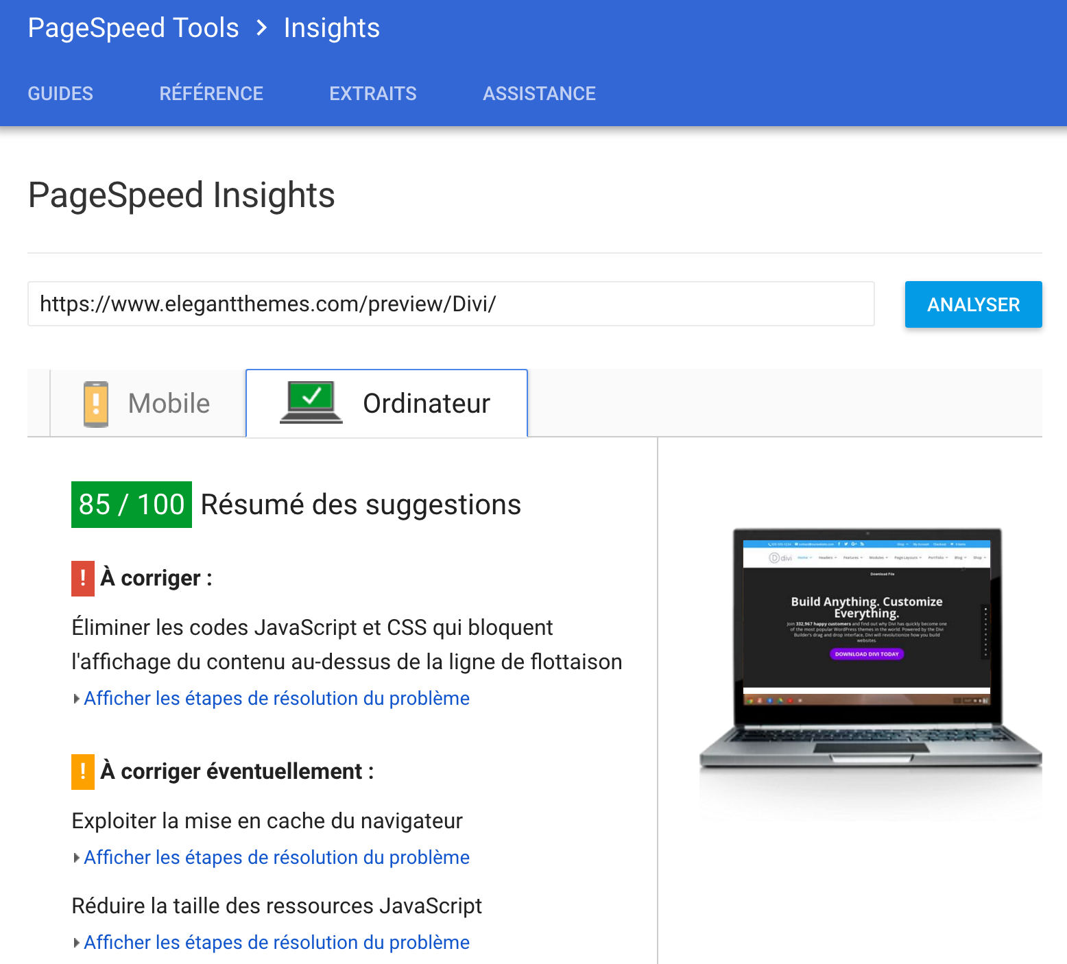 pagespeed-divi
