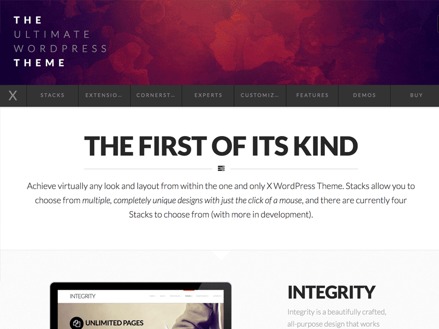 Avis comparatif sur  X, le meilleur thème WordPress, le thème X Theme ?