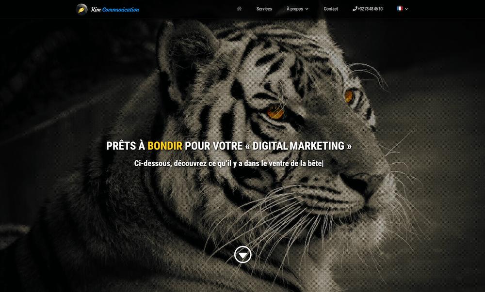 Exemple de site d'agence Web créé avec le thème WordPress Divi