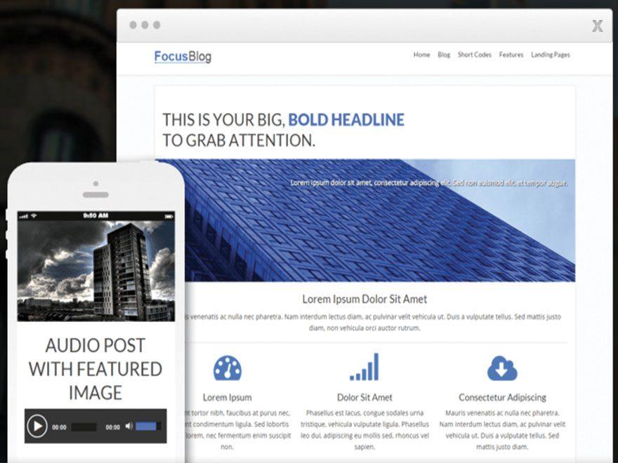 Meilleur Thème pour blogs et le blogging, mon avis sur FocusBlog de Thrive Themes