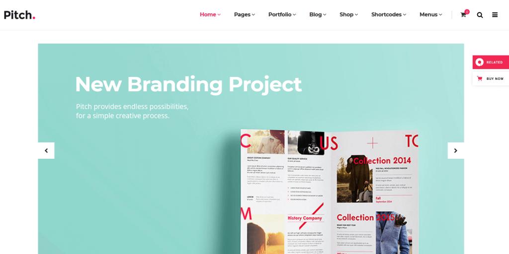 Pitch. : meilleur thème minimaliste pour les agences de communication