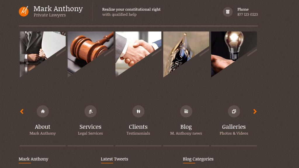 Themis : un thème WP idéal pour un avocat (privé) ou un consultant juridique