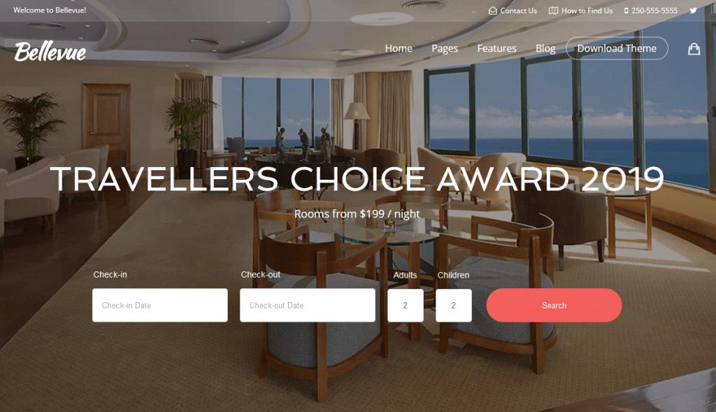 Bellevue : meilleur thème WordPress WooCommerce pour locations de villas