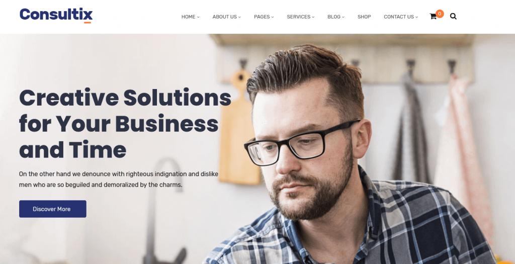 Consultix : meilleur thème WordPress pour bureaux ou cabinets d'assurance