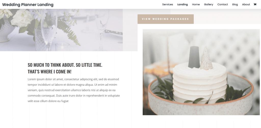 Divi : meilleur thème WordPress pour Mariage et Wedding Planner (organisateurs de mariage)