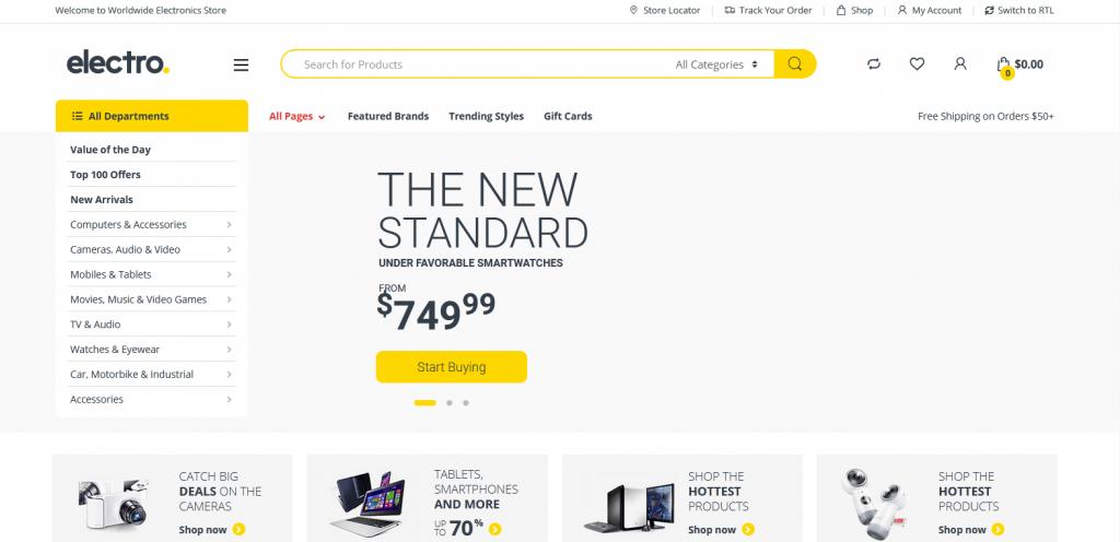 Electro : meilleur thème WordPress eCommerce (WooCommerce) pour produits électroniques