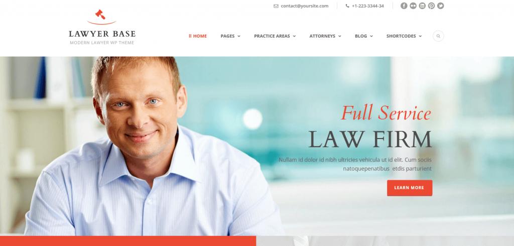 Lawyer Base : l'un des meilleurs thèmes WordPress pour cabinets juridiques