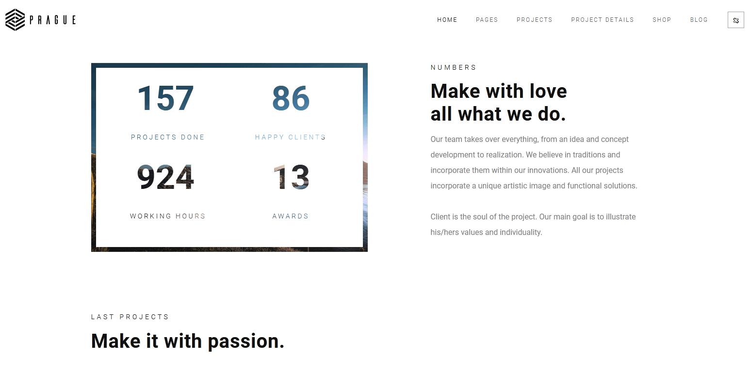 Prague : meilleur thème minimaliste pour le BTP