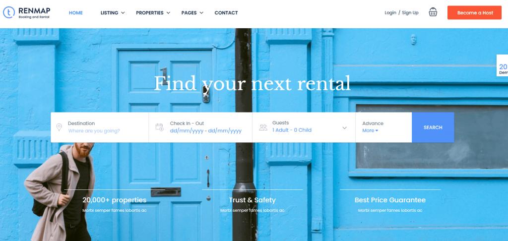 Travel Booking : meilleur thème pour un site de réservation de voyage