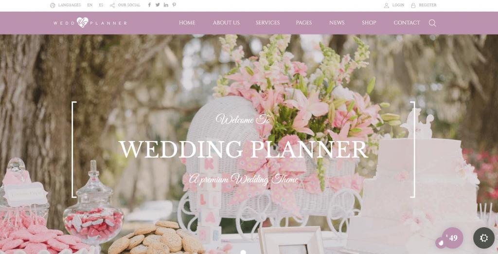 Wedding Industry : 3e meilleur thème WordPress pour les Wedding Planners