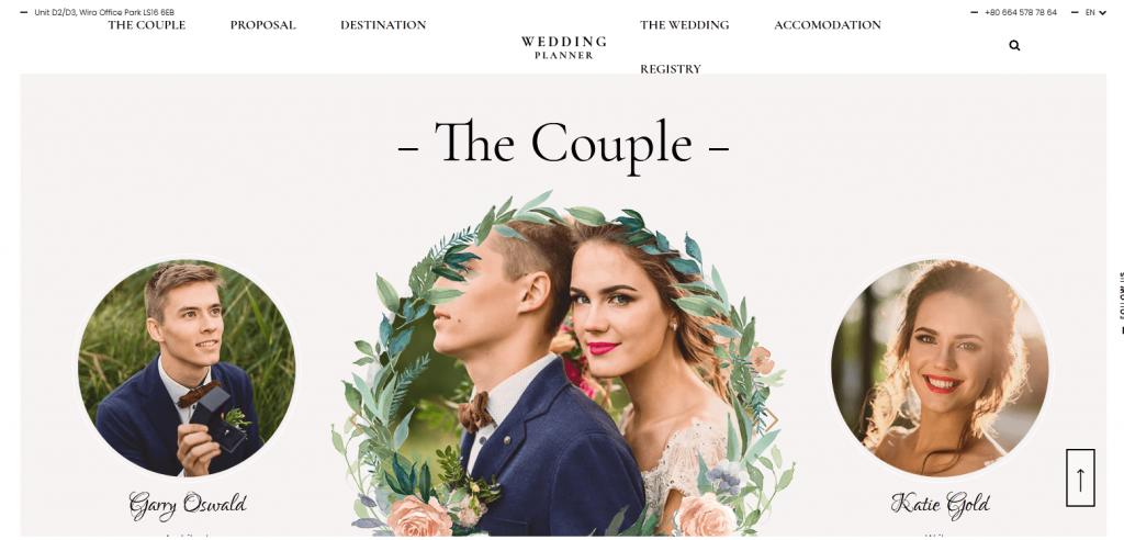 Wedding Planner : 4e meilleur thème WordPress pour couples annonçant leur mariage