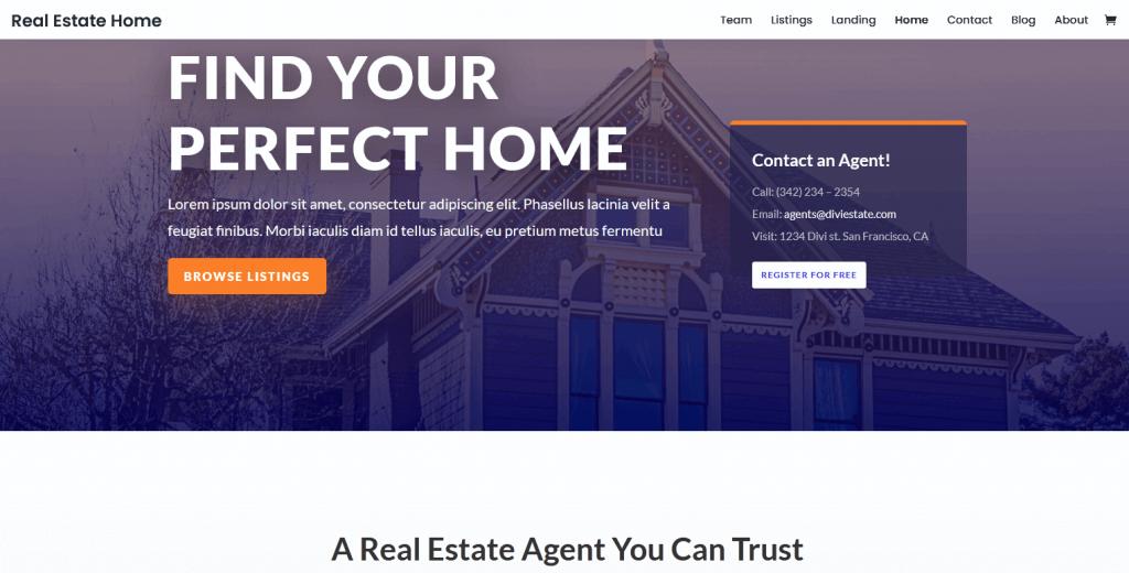 Divi : meilleur thème pour agents immobiliers