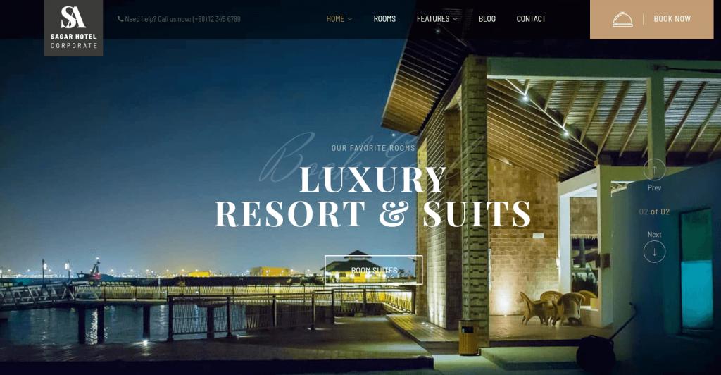 Sailing : meilleur thème WordPress WooCommerce pour clubs de vacance & resorts de luxe