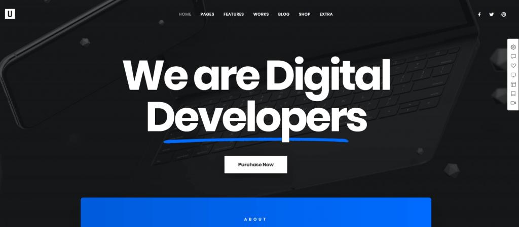 Uncode : meilleur thème moderne pour agence de webmarketing