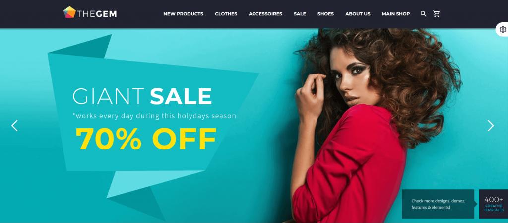 TheGem : 1er meilleur thème WordPress ThemeForest fashion au féminin pour blogueuses mode
