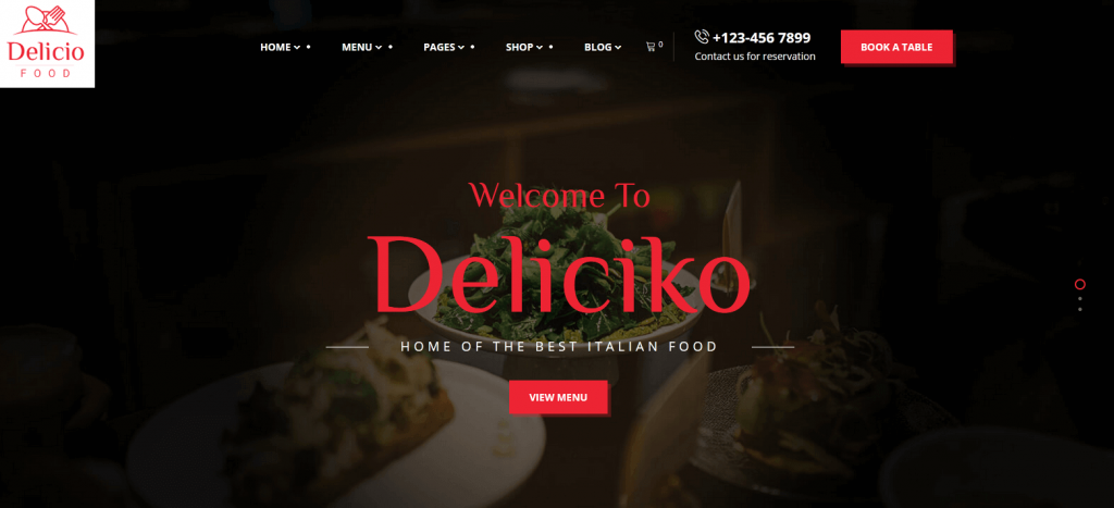 Deliciko : thème idéal pour un service de livraison de nourriture à domicile