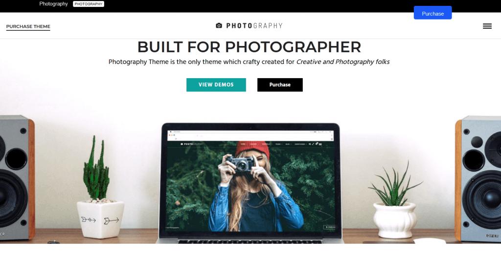 Photography : thème conçu pourles sites de photographes