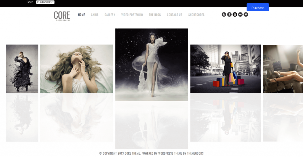 Core : thème WordPress parfait pour créer un book photo en ligne