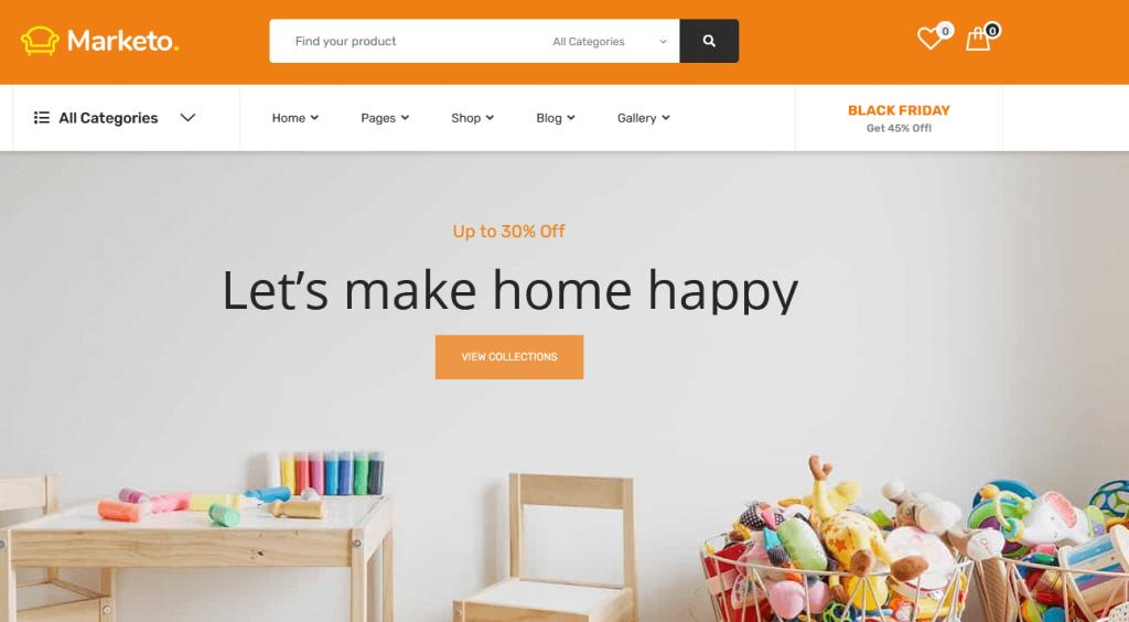 Marketo : meilleur thème pour votre place de marché en ligne