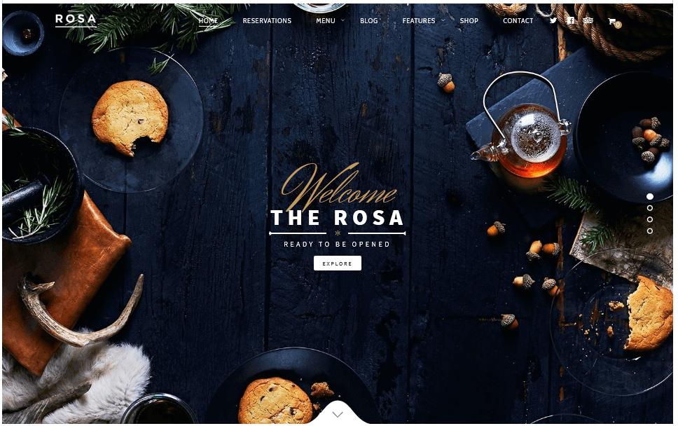 ROSA 1 : thème WordPress idéal pour un bar restaurant