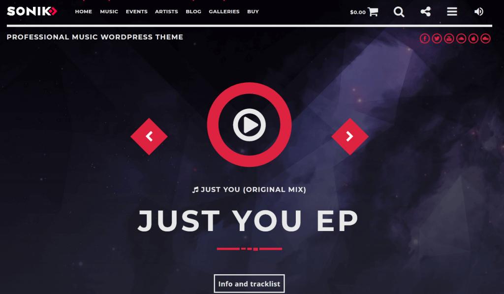 Sonik : meilleur thème pour créer un site de radio en ligne