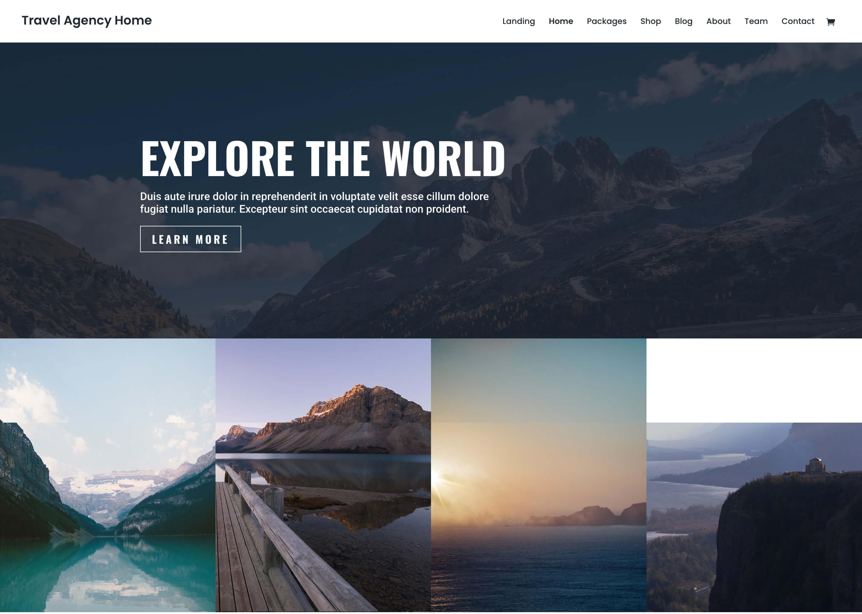 Divi : meilleur thème pour un blog de voyage minimaliste
