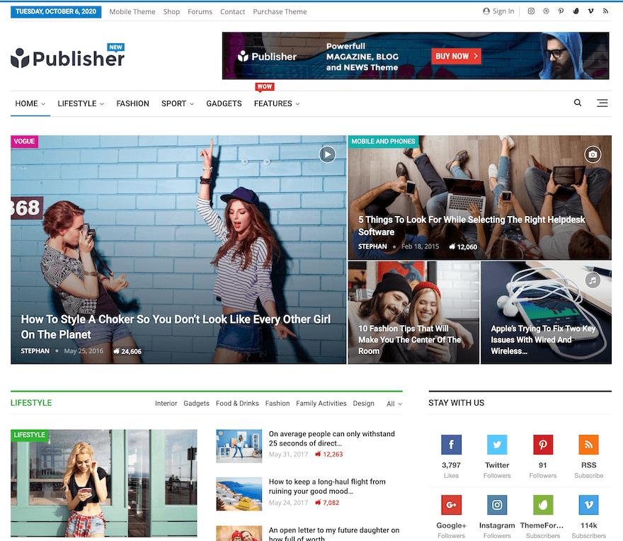 Avis comparatif sur le meilleur thème WordPress Publisher Better Studio