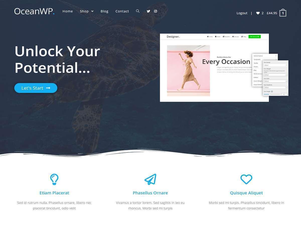 Meilleur Thème WordPress : OceanWP, mon avis sur OceanWP ! Un excellent thème !