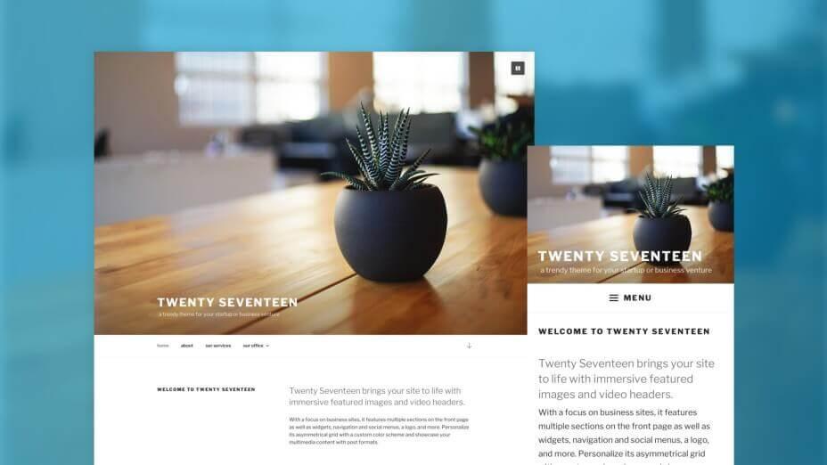 Avis sur le thème de base de WordPress Twenty Seventeen