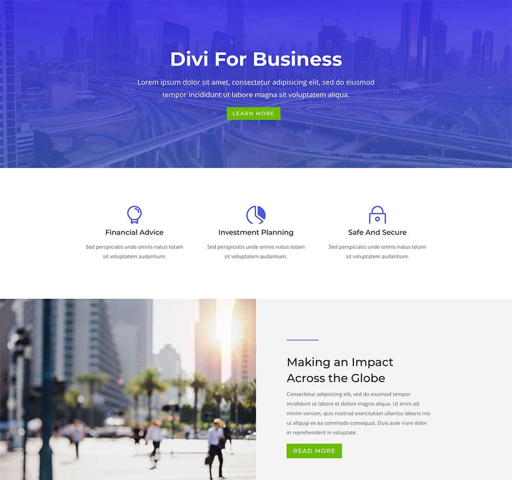 Divi : meilleur thème WordPress pour créer tous vos sites vitrines professionnels simples et minimalistes