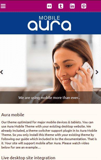 """Aura : meilleur thème pour créer un site web type """"application mobile"""""""