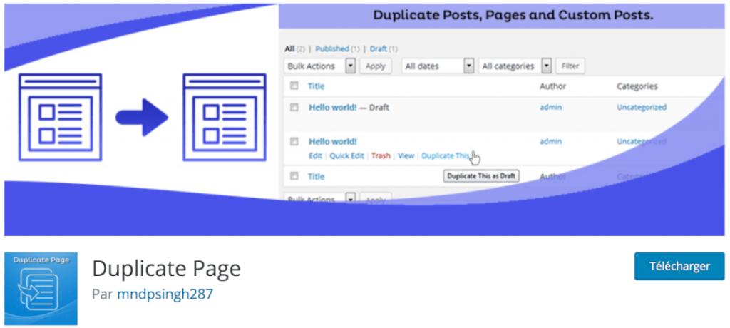 Duplicate Page, le meilleur plugin indispensable pour cloner vos pages WordPress