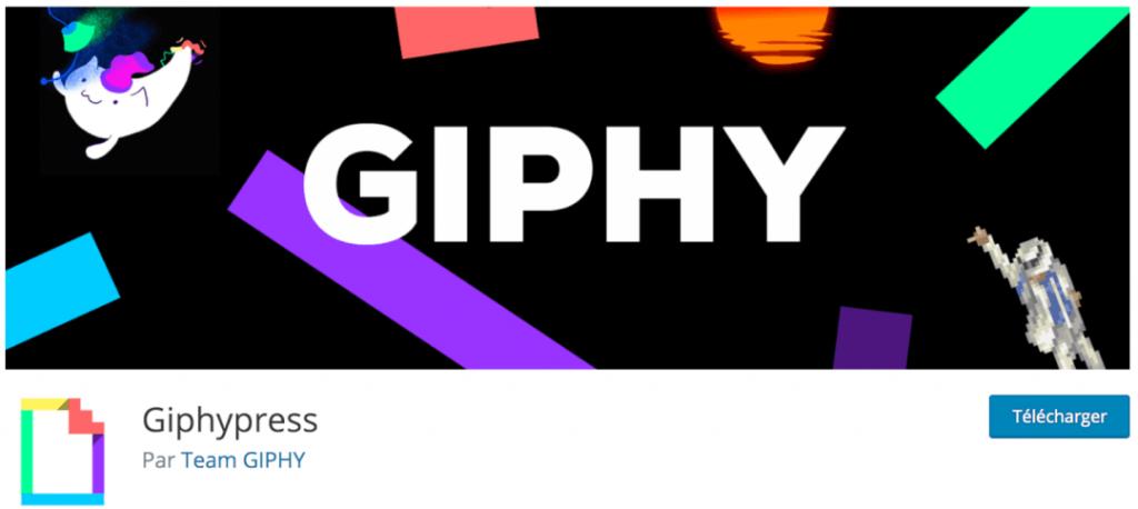 GiphyPress, le meilleur plugin indispensable pour intégrer des GIF animées