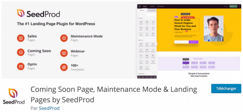 SeedProd - Coming Soon Page, le meilleur plugin indispensable pour mettre votre site en mode maintenance