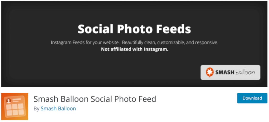 Smash Balloon Social Photo Feed, le meilleur plugin indispensable pour intégrer votre flux Instagram