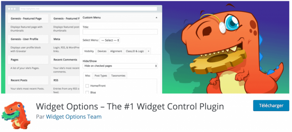 Widget Options, le meilleur plugin indispensable pour gérer l'affichage de vos widgets